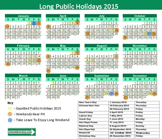 Long Public Holidays 2015 SG Cheatsheet